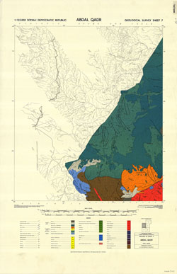 1 : 125,000 Somaliland Protectorate. Geological Survey. D.C.S. 1076, Abdal Qadr